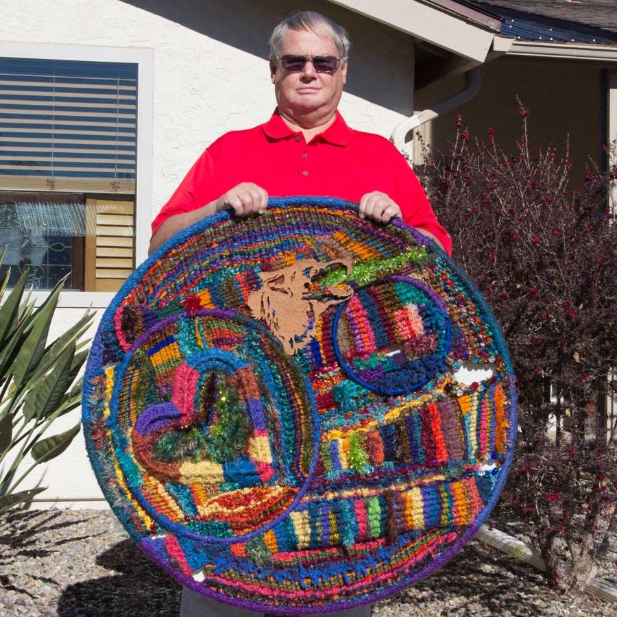 Artist-Bill-Holloway-Fiber-Art-Hoop-Weaving