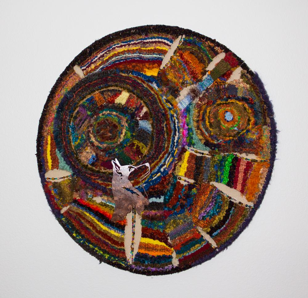 """Wheel-of-Life-36""""-Hoop-Weaving,Artist-Bill-Holloway"""